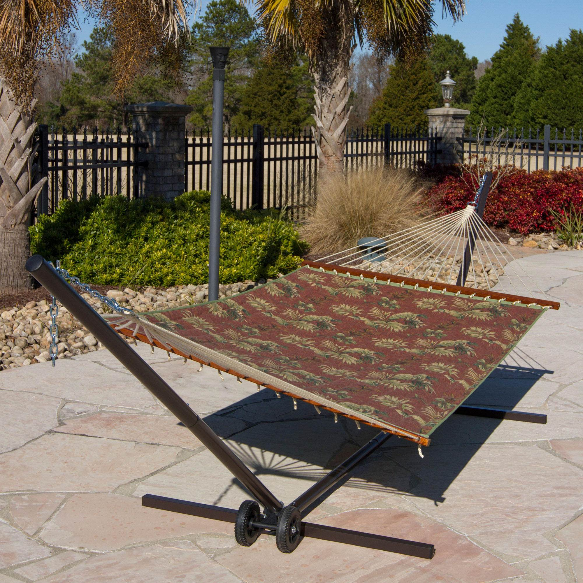 Palm Leaves Quilted Hammock