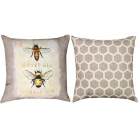 Natural Life Bee Natural History Climaweave Outdoor Pillow ...