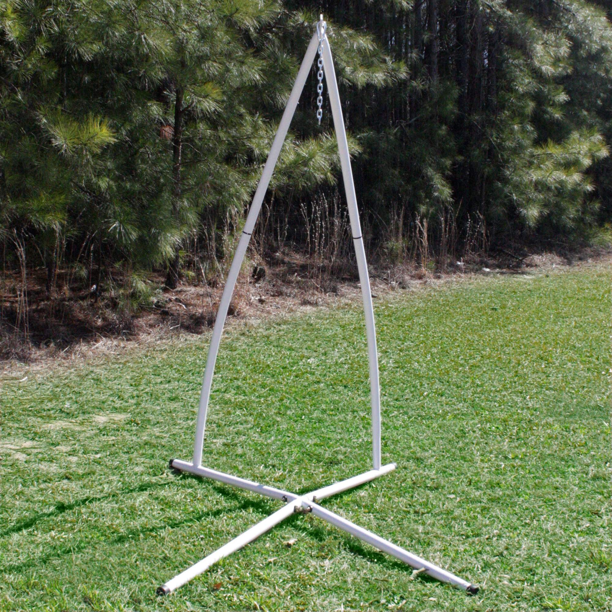 steel hammock chair stand rocking chairs for outside white powder coated single swing dfohome