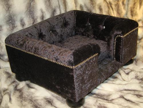 sofa for dog cinema manhattan faux leather bed sandringham crushed velvet luxury