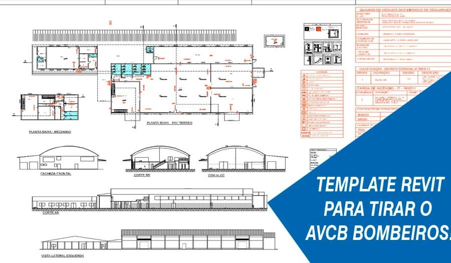 Bombeiros template Revit AVCB projeto