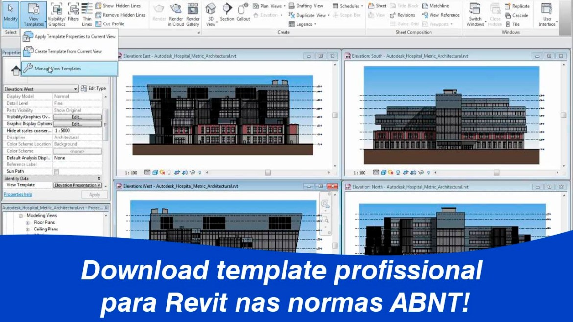 Template Revit nas normas ABNT