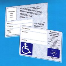 Image of blue Badge