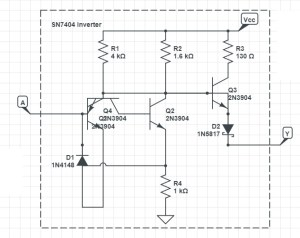 7404 Pinout and Circuit Diagram  Six Independent
