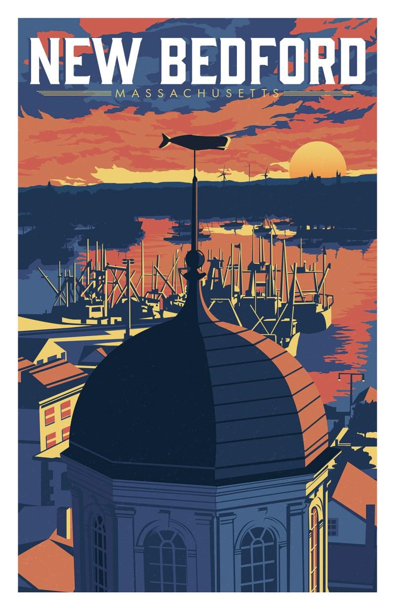 New Bedford Harbor Travel Poster