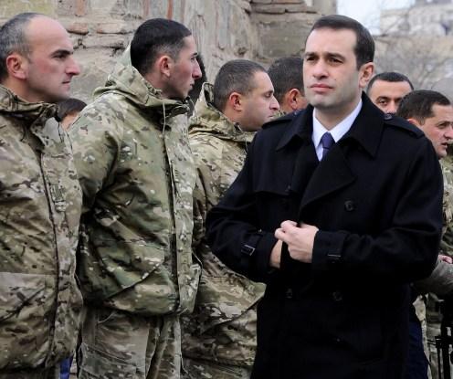 irakli alasania - giorgi kikadze funeral