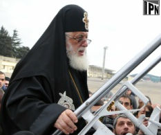 Catholicos-Patriarch Ilia II says it is unacceptable to renew talks about adopting the language charter (IPN photo)