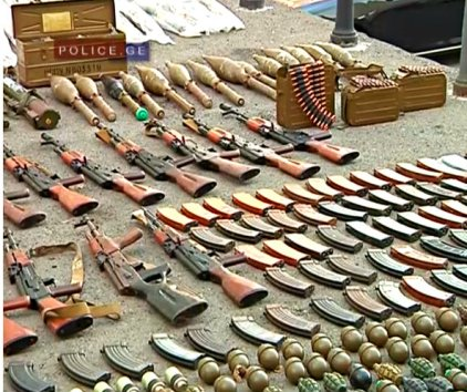 weapons cache samegrelo