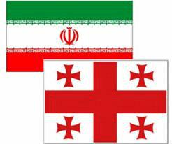 iran georgia flags