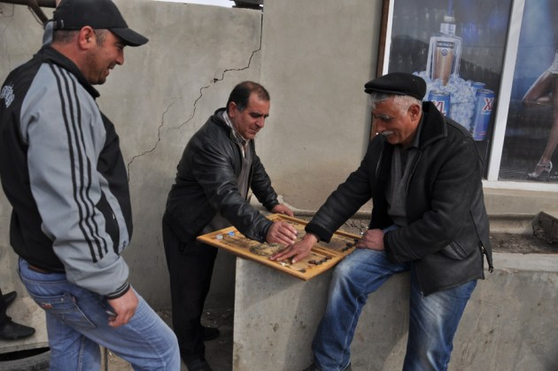 Villagers playing backgammon in their spare time (Mari Nikuradze)