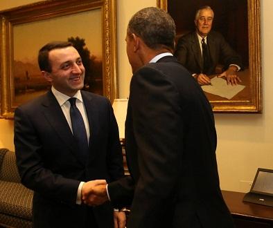 irakli gharibashvili - barack obama - 2014-02-24