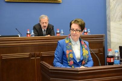 Nino Gvenetadze at Legal Issues Committee (Parliament.ge)