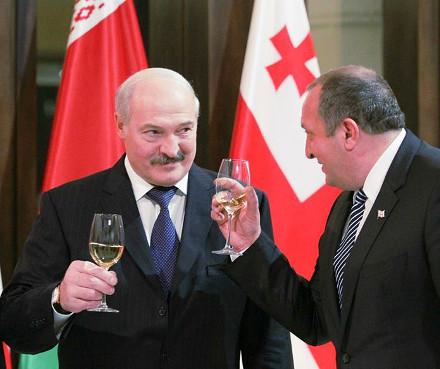 Alexander Lukashenko and Giorgi Margvelashvili