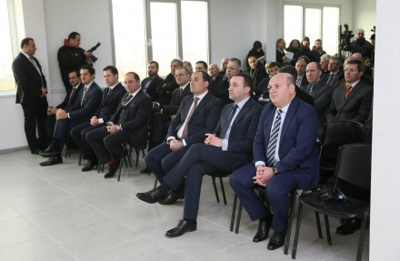 Georgian officials at presentation of Bitfury's facility in Tbilisi (ifact.ge)