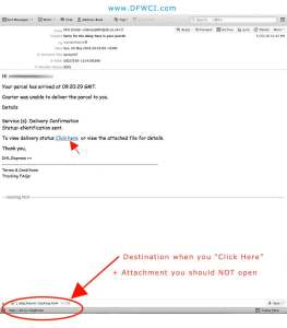 DHL Email Scam Screenshot