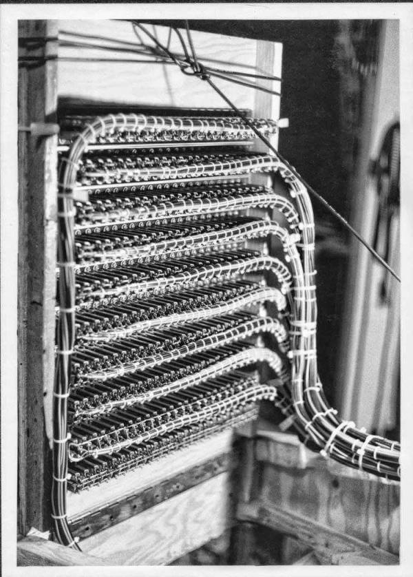 Recording Studio patch bay. Richmond, California 1978