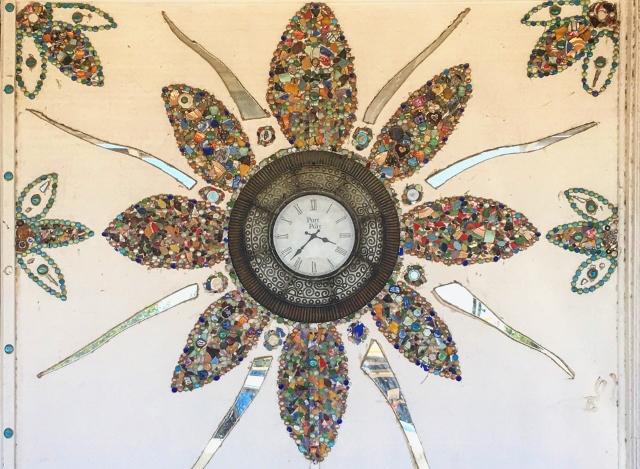 Mural-sized clock in Maypearl, Texas