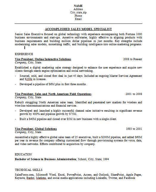 Resume Work History Format Resume Formats With Examples And