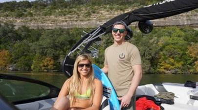 Ashley Kidd Surfs with Veterans