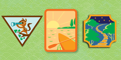 Girl Scouts Outdoor Adventure and Paddling Badges