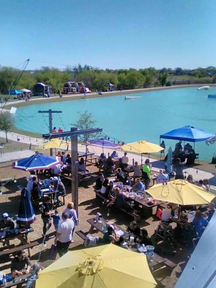 Towers Tap House in Little Elm Outdoor Restaurant and Hydrous Cable Park