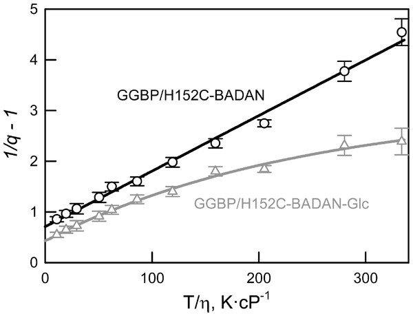Spectral characteristics of the mutant form GGBP/H152C of
