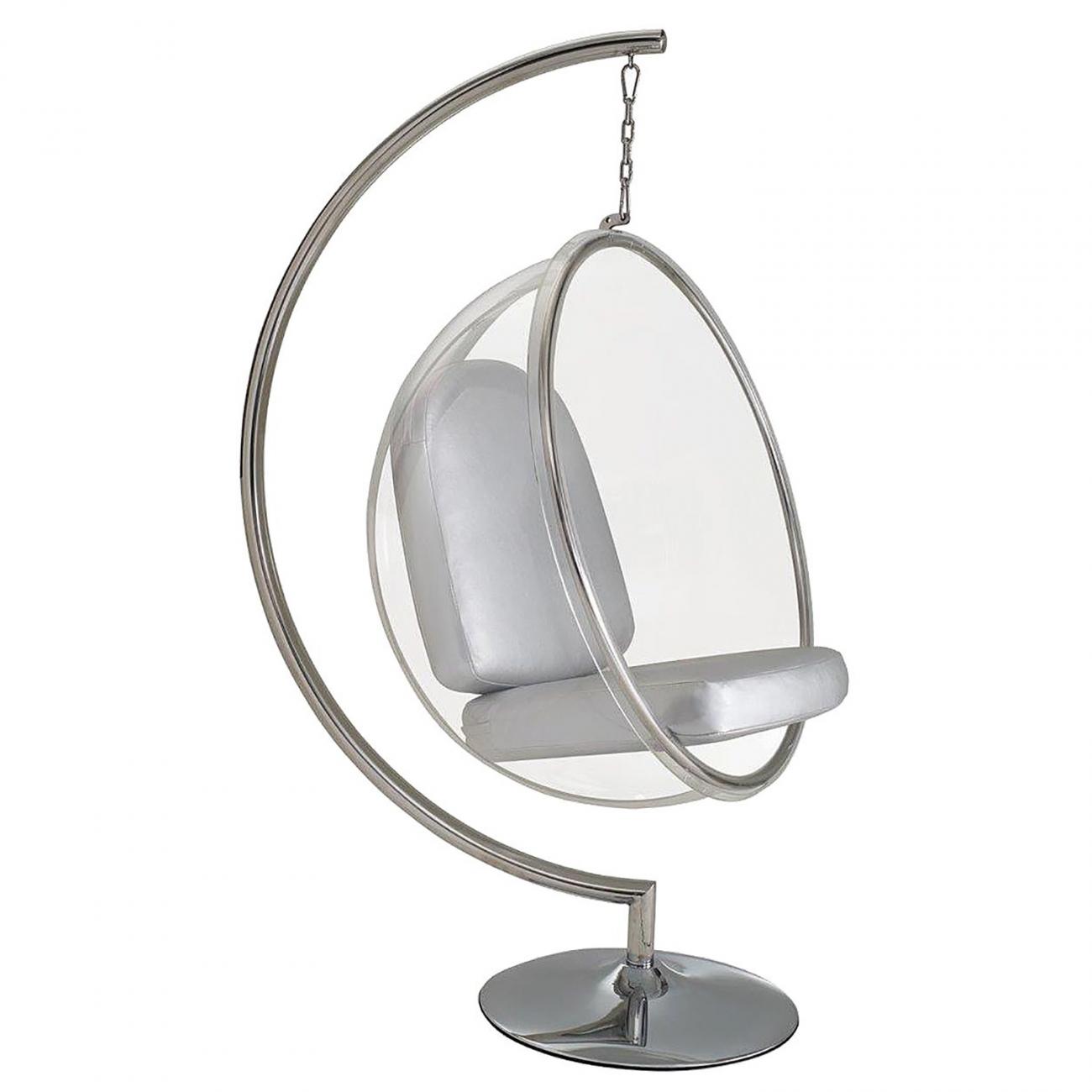 bubble chair with stand alps king kong Кресло Серебряная Экокожа купить