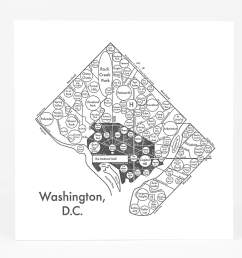 product image archie s press circle map of washington d c  [ 1500 x 1293 Pixel ]
