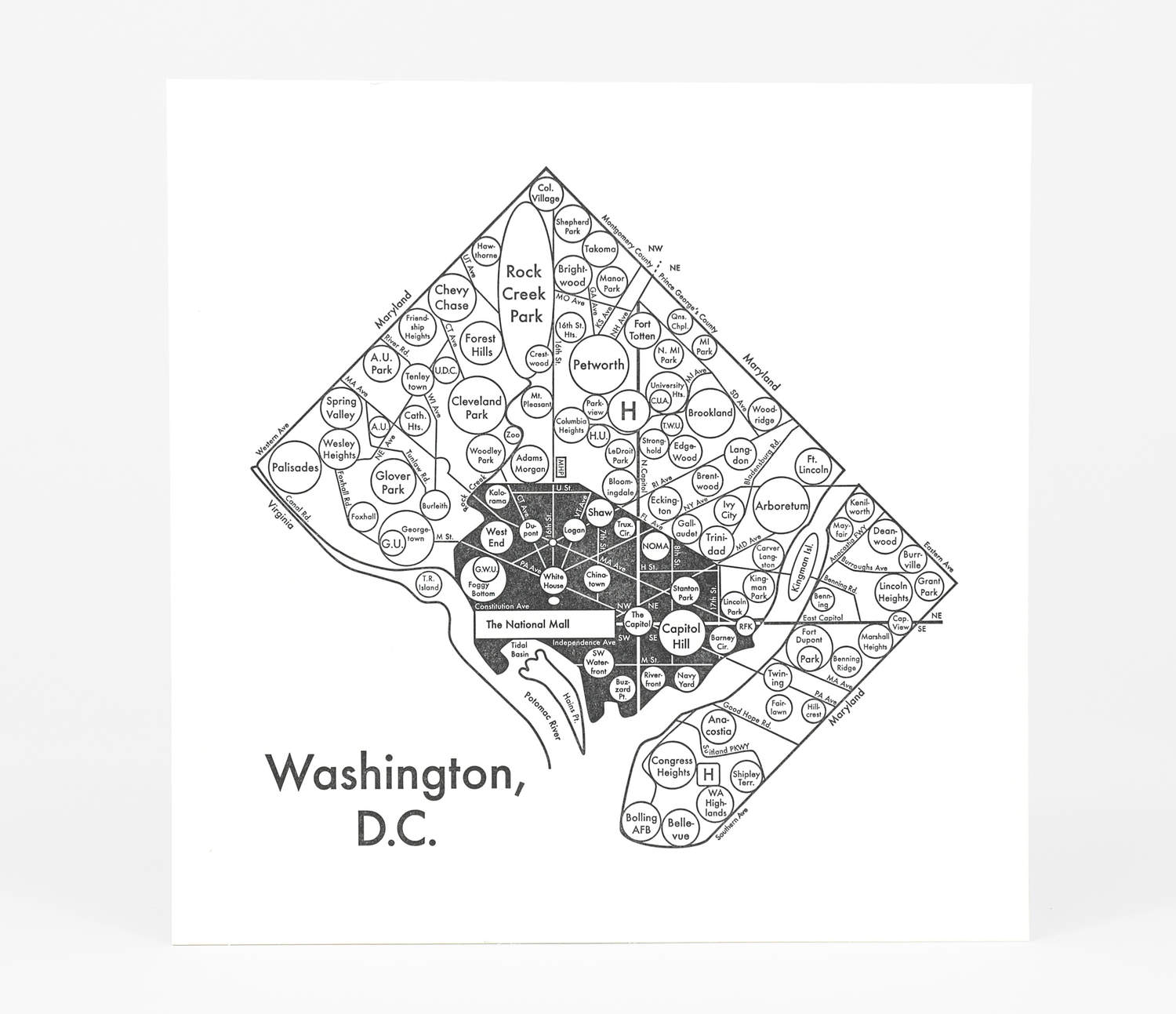 hight resolution of product image archie s press circle map of washington d c