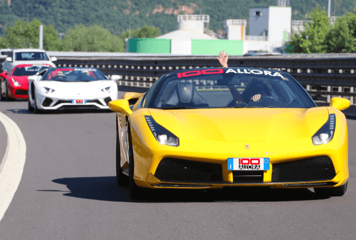 Supercar trips from Rome and Milan