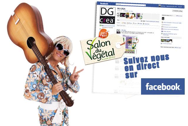 Salon du Végétal : suivez-nous sur Facebook et Twitter