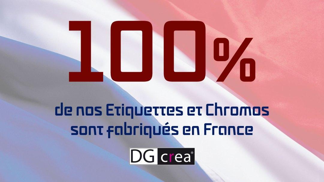 DG CREA Etiquettes Chromos Made in France