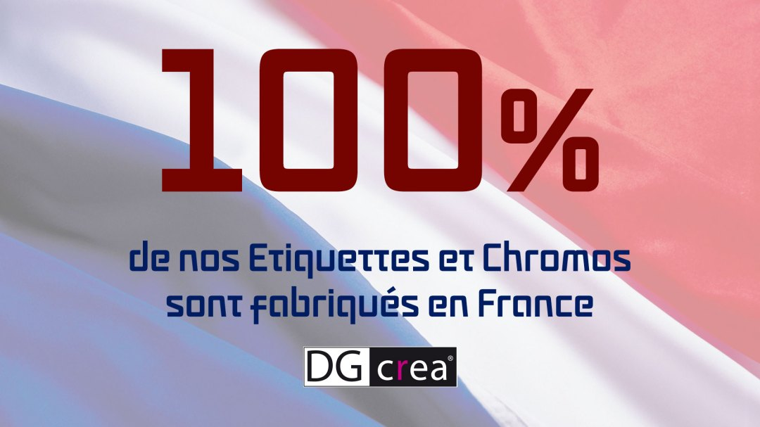 DG CREA Etiquettes Chromos Made in France