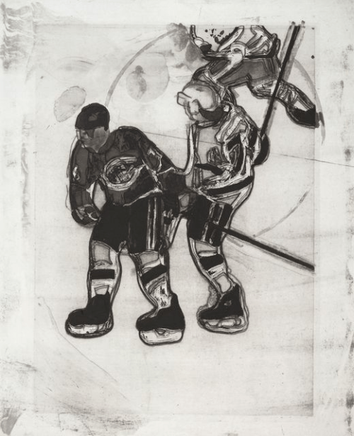 Subban and Nolan by Peter Doig