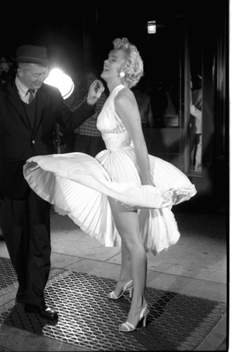 Marilyn Monroe and Billy Wilder Filming the Seven Year Itch by George Zimbel