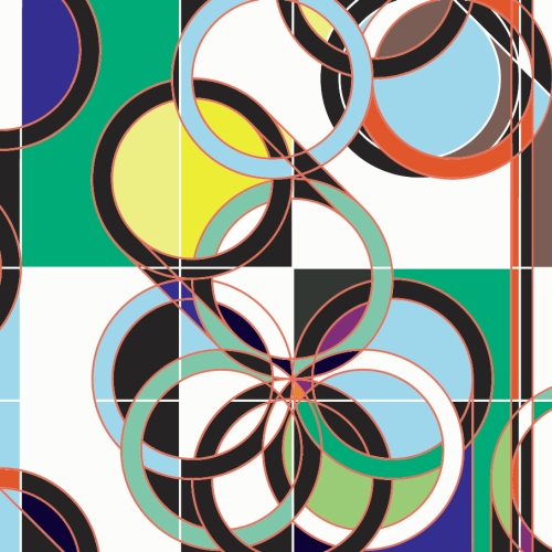 2028.08 (Rings) by Sarah Morris