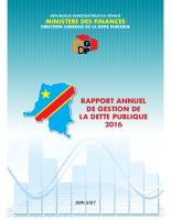 DGDP_RAPPORT GESTION DE LA DETTE 2016