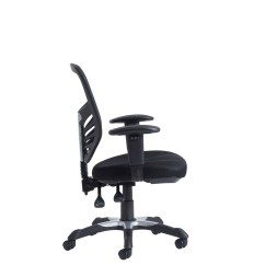 Office Chair Levers Teak Outdoor Chairs Vantage Mesh Back 3 Lever No Arms Black