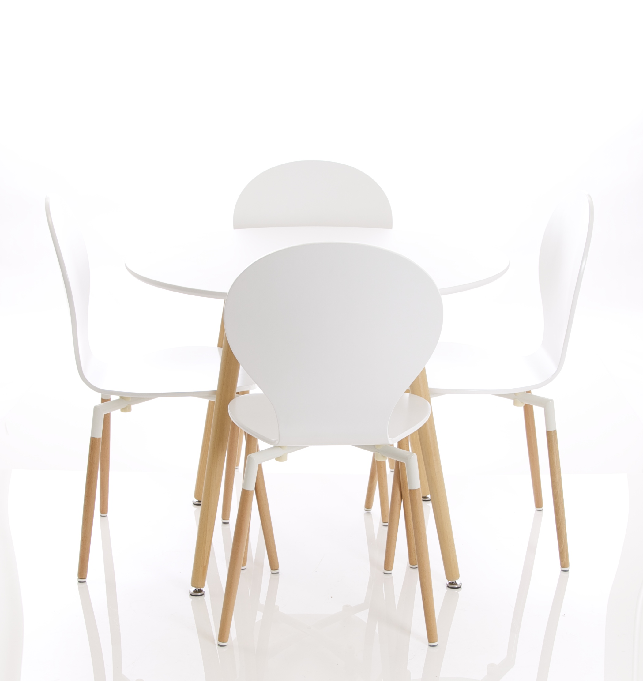 four chairs furniture island for kitchen parisian round table with