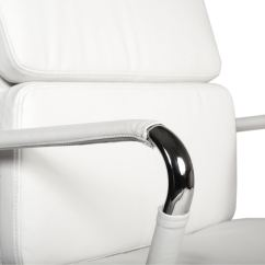 Office Chair Arm Covers Rocking Recliner Chairs Teknik Retro Style Cantilever White Faux Leather