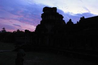 4 a.m. photo shoot. Entrance to Angkor Wat.