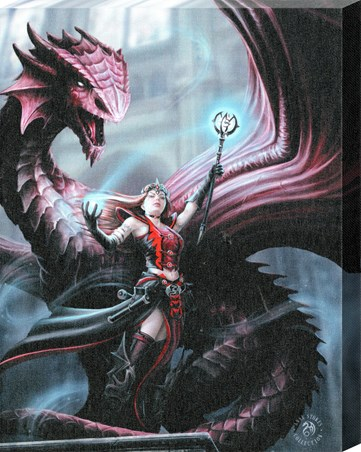 Scarlet Mage Canvas Print Anne Stokes Canvas Buy Online