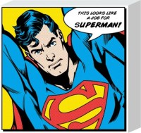 Superhero To The Rescue, Superman Canvas Print - PopArtUK