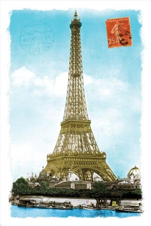 Postcard From Paris Tour Eiffel Poster PopArtUK