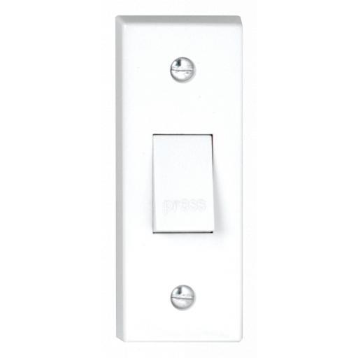 10A 1G Architrave Press Switch marked Press