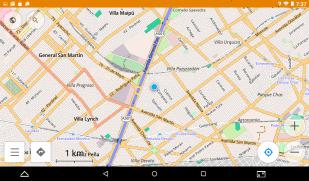 Mapas de OsMand con diferentes grados de detalle