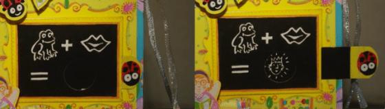 Salah satu penerapan teknik parallel slide pada My Fairy Magic School karya Maggie Bateson dan Louise Comfort.