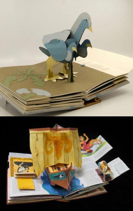 Adanya penambahan lipatan pada sisi luar akan membantu buku pop-up memiliki ketebalan yang seimbang antara satu sisi dengan sisi lainnya pada saat buku pop-up ditutup.