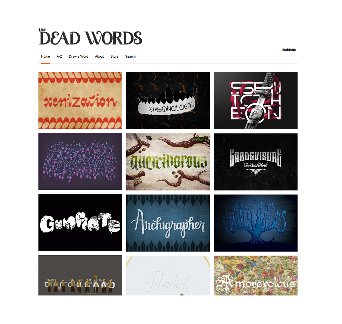 Tampilan situs The Dead Words