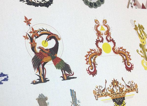 Indonesian Batik Alphabet - Haris Mustafa